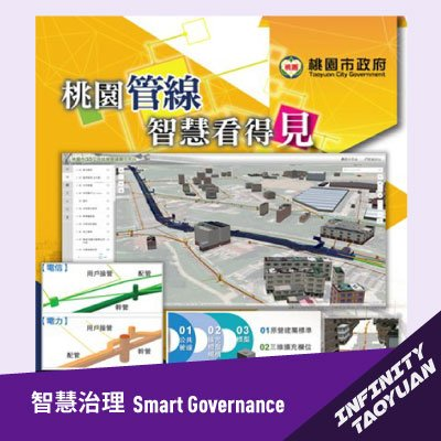 Taoyuan City 3D public facilities and pipeline system platform