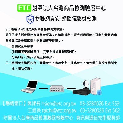 Internet of Things Information Security - Network IP Camera Test